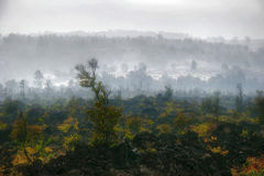 Panorama of foggy Hawaii Royalty Free Stock Photo