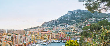 Panorama of the Fontvieille ward of Monaco Royalty Free Stock Photography