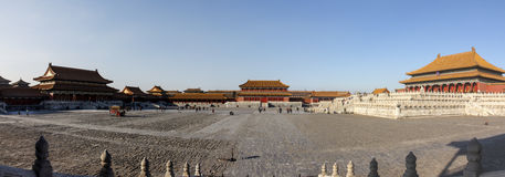Panorama of Forbidden City Royalty Free Stock Photos