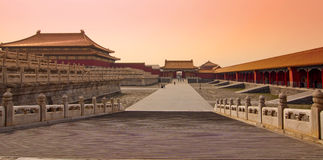 Panorama of the Forbidden City, Beijing China Royalty Free Stock Photography