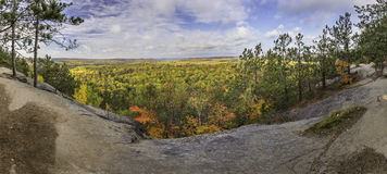 Panorama of a Forest in Fall Colour - Ontario, Canada Stock Photography