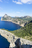 Panorama, Formentor by the Mediterranean sea on the island of Ib Royalty Free Stock Photography