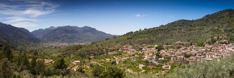 Panorama of Fornalutx. Mallorca, Baleares, Spain Royalty Free Stock Photos