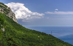 Panorama of Foros. Foros Church. View from the top Royalty Free Stock Image