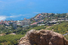 Panorama of Foros. Foros - urban village on the southern coast of Crimea. Included in the Borough of Yalta Republic of Crimea (according to the administrative stock photos