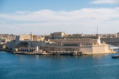Panorama of the Fort St. Angelo of La Vittoriosa in Malta Stock Image
