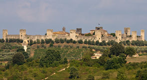 Panorama of Fortress Monteriggioni Royalty Free Stock Photos