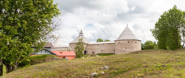 Panorama of fortress Old Ladoga Royalty Free Stock Image