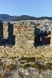 Panorama from fortress to Kavala, East Macedonia and Thrace Royalty Free Stock Photo