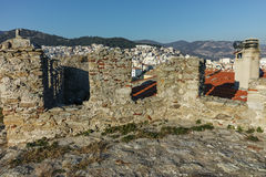 Panorama from fortress to Kavala, East Macedonia and Thrace Royalty Free Stock Image