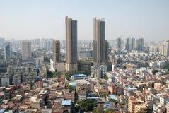 Foshan cityscape. Panorama of Foshan city downtown, China Stock Photography