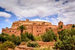 Panorama- foto av Ait Benhaddou, Marocko Arkivbild