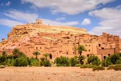 Panorama- foto av Ait Benhaddou, Marocko Arkivbilder