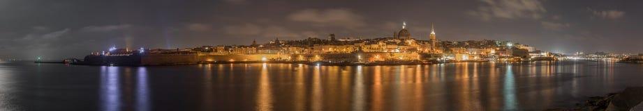 Panorama- foto av Valletta - Malta fotografering för bildbyråer