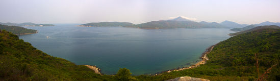 panorama- foto för Hong Kong natur Arkivbild