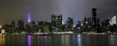 Panorama- foto Manhattan Arkivfoton