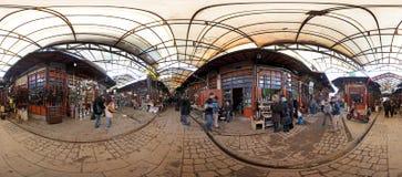 Panorama- fotografi av kopparmarknaden i Gaziantep, Turkiet Royaltyfri Fotografi
