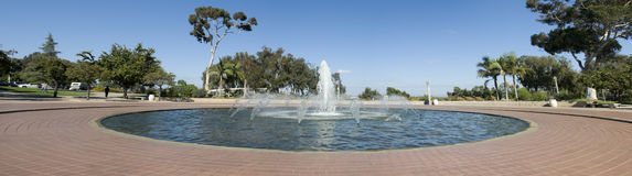 Panorama of Fountain Stock Images