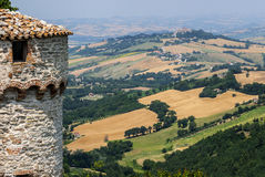 Panorama från Arcevia Arkivfoton