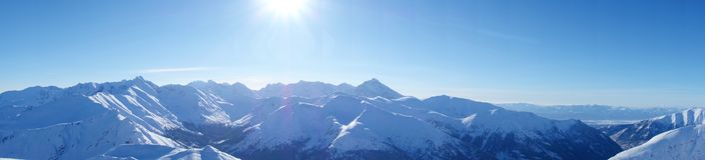 Panorama från Kopa Kondracka under vinter, Zakopane, Tatry berg, Polen royaltyfria bilder