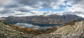Panorama från maximumet av St Elijah i Montenegro Royaltyfri Foto