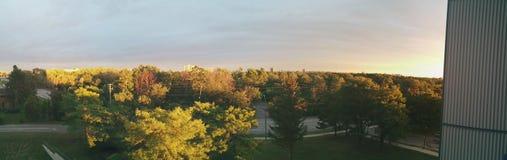 Panorama från min balkong Arkivfoton