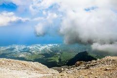 Panorama från monteringen Tahtali, Turkiet Royaltyfria Bilder