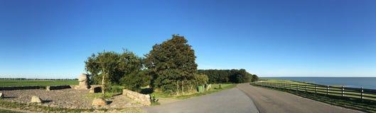Panorama från monumentet på red Klif Arkivfoto