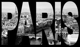 Panorama från Notre-Dame Arkivfoto