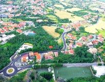 Panorama från San Marino royaltyfri fotografi