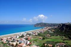 Panorama från slotten av Milazzo Royaltyfria Foton