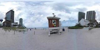 Panorama för Hallandale strand 360 stock video