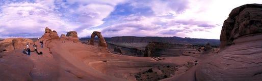 Panorama fragile dell'arco fotografie stock libere da diritti