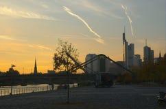 panorama- frankfurt Arkivbild