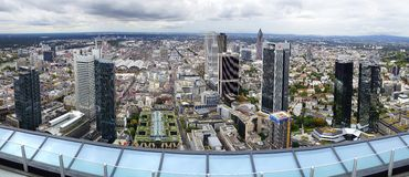 Panorama of Frankfurt am Main, Germany. Royalty Free Stock Image