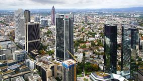 Panorama of Frankfurt am Main, Germany. Stock Image