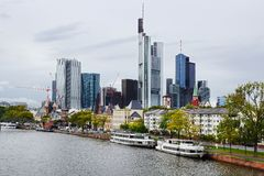 Panorama of Frankfurt am Main, Germany. Stock Photo