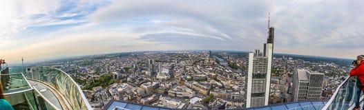 Panorama of Frankfurt am Main Stock Photography