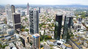 Panorama of Frankfurt am Main, Germany. Stock Photos