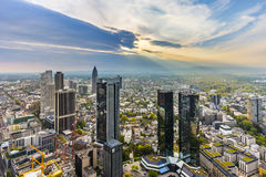 Panorama of Frankfurt am Main Stock Images