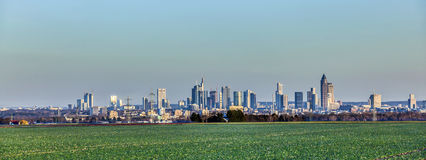 Panorama of Frankfurt skyline Stock Photo