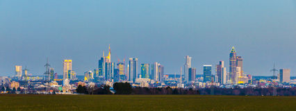 Panorama of Frankfurt skyline Stock Photography