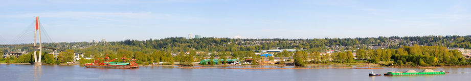 Panorama of fraser river Stock Photos