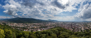 Panorama of Freiburg Royalty Free Stock Image