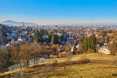 Panorama of Freiburg im Breisgau in Germany Royalty Free Stock Photo