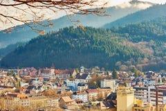 Panorama of Freiburg im Breisgau in Germany Stock Image