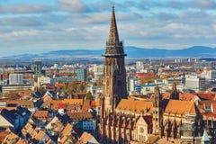 Panorama of Freiburg im Breisgau in Germany Stock Photography