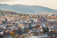 Panorama of Freiburg im Breisgau in Germany Royalty Free Stock Photography