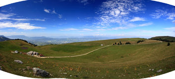 Panorama at French Alpes autumn Royalty Free Stock Images