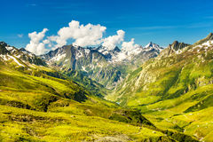 Panorama in the French Alps Royalty Free Stock Images